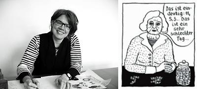 Birgit Weyhe: Reigen / Ich weiß; Porträt; © Avant Verlag / Mami Verlag / privat (Porträt) / T. Köster (m)