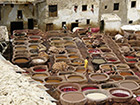 Workers colouring leather in the Old Town in Fes, Morocco.Photo: Stefan Weidner © Goethe-Institut