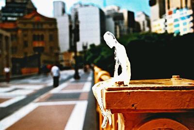 Escultura em gelo, São Paulo. Foto: Acervo Néle Azevedo.
