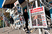 The front pages of Tunisia's national daylies mention the nomination of Moncef Marzouki to the presidency, in Sidi Bouzid, Tunisia, exactly one year after the uprising began | © picture alliance / abaca