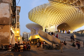 Metropol Parasol, Redeveloping of Plaza de la Encarnacion, 2004-2011, Seville, Spain. Photos by Nikkol Rot for Holcim