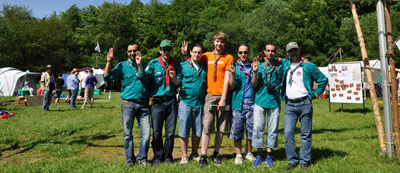 Muslim Scouts and partners from the German Scout Association of St. George; © DPSG