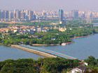 Wuxi is home to Lake Tai, a major tourist attraction, but is also an industrial city with surging emissions; Photo: 二泉映月, via flickr (CC BY-NC-SA 2.0).