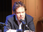 Rolf C. Hemke launching his book on Arab theatre at the Theater Mühlheim an der Ruhr in December 2013. Photo: Stefan Weidner