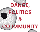 "Das Buchcover von ""Dance, Politics and Co-Immunity"", Stefan Hölscher (Hg.), Gerald Siegmund (Hg.), Diaphanes Berlin"