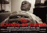 The Sound of Silents film poster © Ilona Ziok