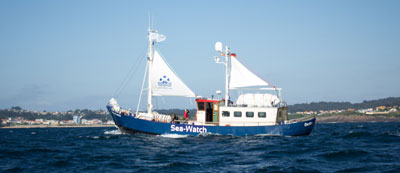 The Sea Watch underway; © Sea-Watch