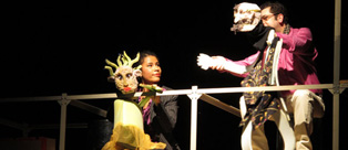 Travelling puppets: performance of Paradise Mastaz by the Hajusom ensemble | Photo: Lutz Saure