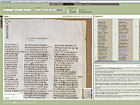 Screenshot zur Digitalisierung des Codex Sinaiticus; Copyright: Universitätsbibliothek Leipzig
