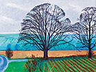 "David Hockney; ""Three Trees near Thixendale, Winter 2007""; Öl auf 8 Leinwänden, 183 x 488 cm © David Hockney; Foto: Richard Schmidt"
