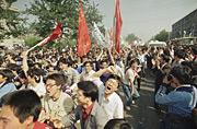 Students at the Tianmen-Square 1989; Photo: Sadayuki Mikami/AP