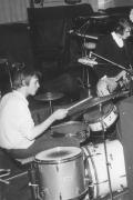 Michael Walter drumming with his band in the 60s