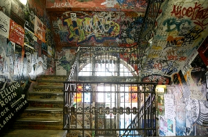 Stairwell at Tacheles. Copyright R MacLean