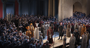 Jesus before Pilate; photo: Brigitte Maria Mayer / Passionsspiele Oberammergau 2010