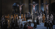The crucifixion; photo: Brigitte Maria Mayer / Passionsspiele Oberammergau 2010
