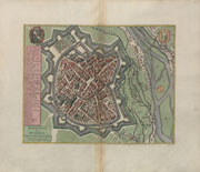 Pieter van der Aa: bird's eye view map of the ducal capital city, following of Munich Matthäus Merian's map from 1644, BSB: 2 Mapp. 7,1-Bl. 46; Copyright: Bavarian State Library