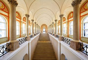 The Bavarian State Library's magnificent staircase, restored in 2007; Copyright: Bavarian State Library