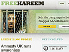 Screenshot: www.freekareem.org