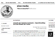Slow-Media-Website; © slow-media.net