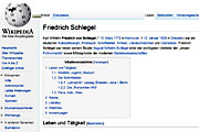 """Friedrich Schlegel"" entry in Wikipedia; © Wikipedia.de"