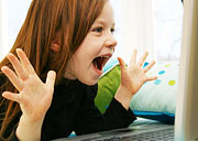 Theres is a number of sites for children on the internet. Photo: Brad Killer © iStockphoto
