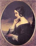 Marie d'Agoult, oil painting (1843). Source: Ernst Burger, Franz Liszt, Munich 1986, public domain