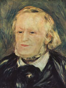 Richard Wagner, portrait by Pierre-Auguste Renoir, Musée d'Orsay Paris (public domain)