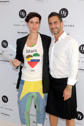Alexandra Kiesel with Marc Jacobs © Florian Seefried for Peek & Cloppenburg Düsseldorf