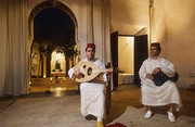 Musicians playing music in a traditional house, Marrakesh, Morocco. Photo: Markus Kirchgessner © Goethe-Institut
