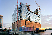 Still under construction: Hamburg's Elbphilharmonie (northwest view, September 2011); photo: © Oliver Heissner