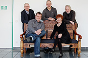cpo team with the label's founder Burkhard Schmilgun; photo: © cpo
