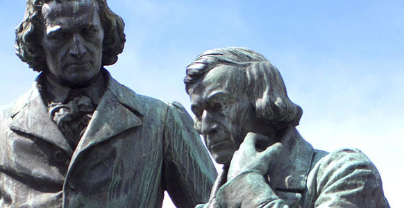 Grimm Brothers Monument at Hanau (Germany) Photographer: Dr. Meierhofer