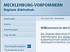 Website of the Mecklenburg-Vorpommern Digital Library; © Universitätsbibliothek Greifswald