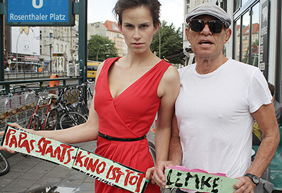 "Director Klaus Lemke with ""Berlin For Heroes"" actress 