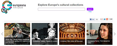 Website der Europeana; © europeana.org