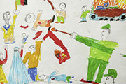 Child's drawing about the war in Afghanistan. Photo: Martin Gerner © Goethe-Institut
