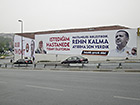 Turkish President Erdoğan promising better health care as part of his campaign during the Turkish parliamentary elections of 2011, Istanbul. Photo: Stefan Weidner © Goethe-Institut