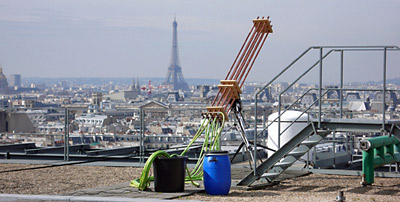 "The ""Cloudbuster"" project in Paris; © Centre Pompidou / Georges Meguerditchian"