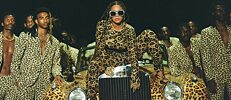 "Beyoncé in a scene from her visual album ""Black is King"""