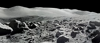 Moon panorama photo, taken during one of the Apollo missions
