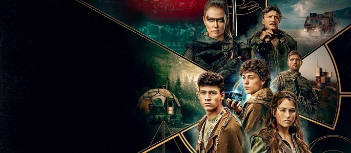 "Detail from the official Poster of the netflix series ""Tribes Of Europa"" shows its six Protagonists"