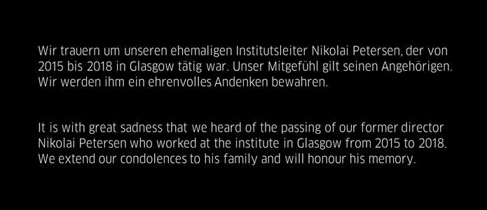 Nikolai Petersen condolences