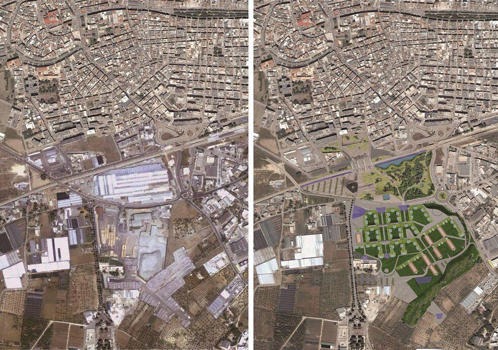 Prospettive future: la vecchia zona industriale di Terlizzi, in provincia di Bari, potrebbe diventare un'ambitissima città dei 5 minuti