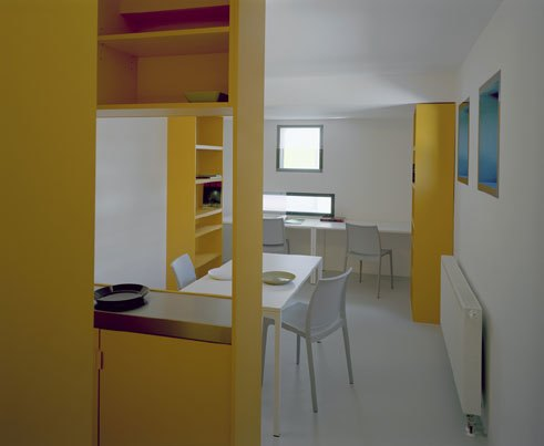 Student housing in the Olympic village, Interior