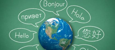 Language as a sort of bulk commodity in the world community.