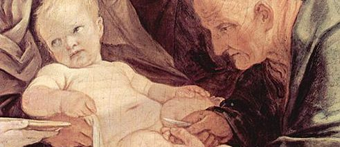 The Circumcision of Jesus, detail; Guido Reni about 1635-1640