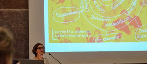 "Urban psychologist Cornelia Ehmayer at the ""More Space for Everyone"" conference in February 2014 in Tutzing."