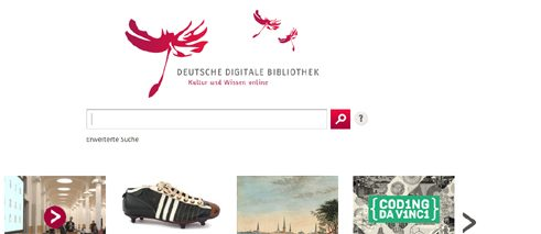 Screenshot of the German Digital Library