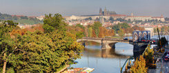 The Goethe-Institut's windows look on a perfect panorama view of Prague and the Vltava.