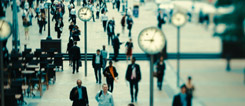 "Scene from the film ""Speed"": Time is money – the incessant reminder in London's financial world."